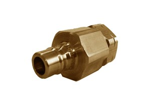 Snaptite H Series Valved Nipple Brass Quick Fittings