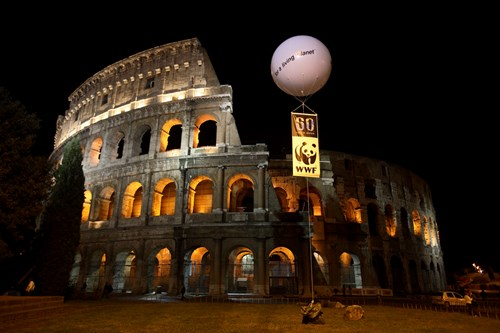 Coliseum Fully Lit Earth Hour 2016